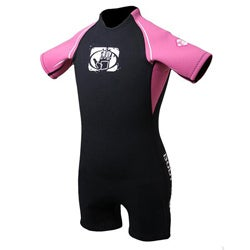 Body Glove Girl's Pro 2 Black/ Pink Spring Wetsuit