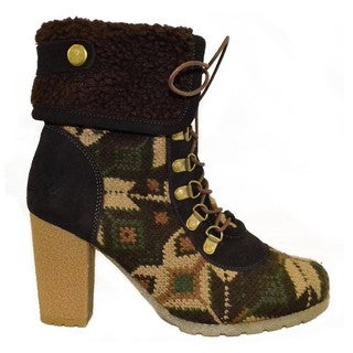 Muk Luks Women's Military Lace-up Boots