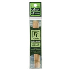 Clover Bamboo Double Point Knitting Needles