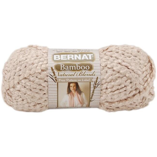 Bernat Rayon from Bamboo/Acrylic/Polyester Natural Blends Yarn (63 Yards)