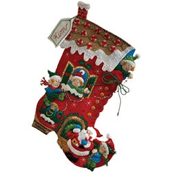 Bucilla 'Holiday Decorating' Stocking Felt Applique Craft Kit