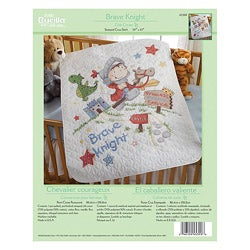 Bucilla Brave Knight Crib Cover Stamped Cross Stitch Kit