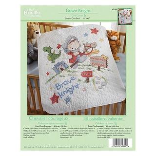 Bucilla Brave Knight Crib Cover Stamped Cross Stitch Kit