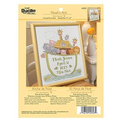 Bucilla Noah's Ark Birth Record Counted Cross Stitch Kit