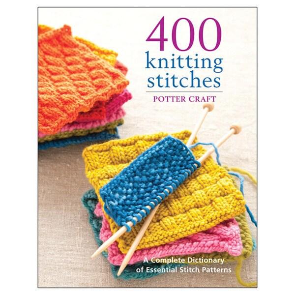 Potter Craft Books '400 Knitting Stitches' Knitting Book