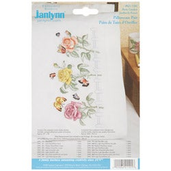 Janlynn Rose Garden Pillowcase Pair Stamped Embroidery