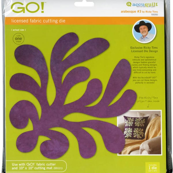 Accuquilt GO! Fabric Ricky Tims Arabesque Die