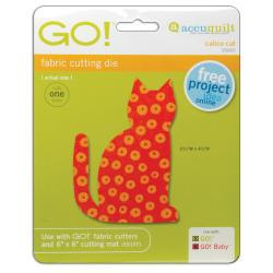 Accuquilt GO! Baby Fabric 'Calico Cat 'Cutting Die