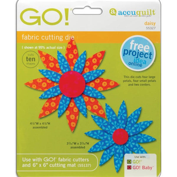 Accuquilt GO! Baby Daisy Fabric Cutting Dies
