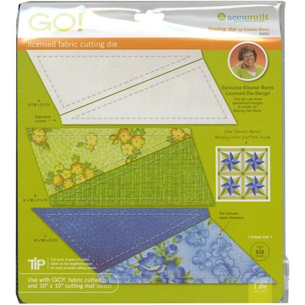 Accuquilt GO! Fabric Blazing Star Cutting Die