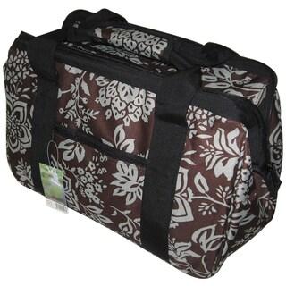 JanetBasket Contemporary Flower-pattern Canvas/Aluminum Eco Bag