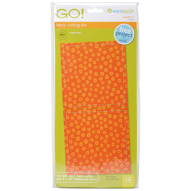 Accuquilt GO! Quiltmaker's Square Five-inch Plastic Fabric-cutting Die