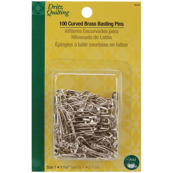 Dritz Quilting Brass Curved Basting Pins