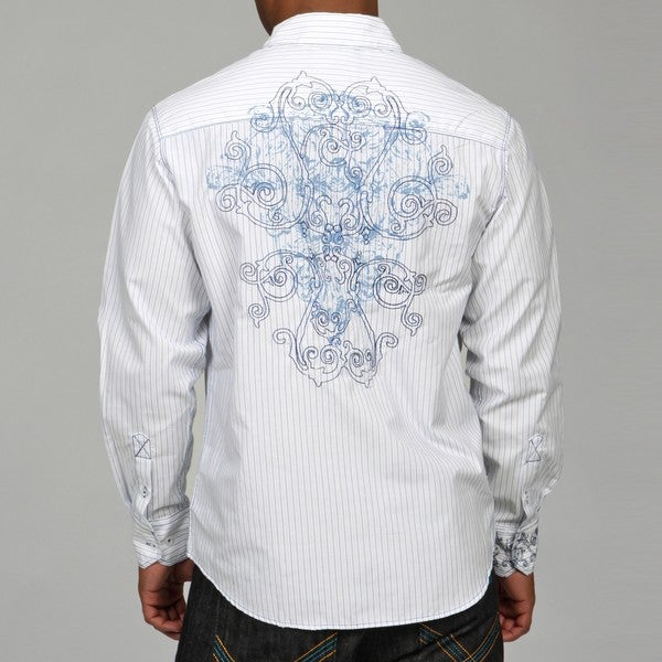 Cultura Men's Embroidered Woven Shirt - 13842205 - Overstock.com ...
