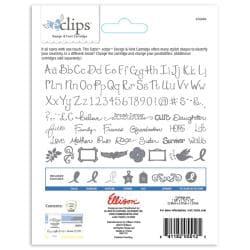 Sizzix Eclips Hope & Strength Alphabet Cartridge