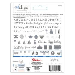 Sizzix Eclips Birthday Party and Fun Times Alphabet Cartridge