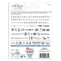 Sizzix eclips Cartridge - Baby Shower & Precious Alphabet