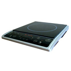 Silver 1300-watt Induction Cooktop