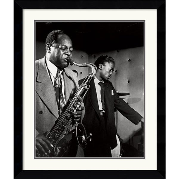 William P. Gottlieb 'Coleman Hawkins and Miles Davis' Framed Art Print