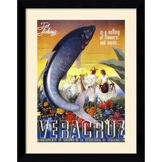 'Veracruz, for Fishing' Framed Art Print