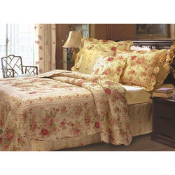 Antique Rose 5-piece Quilt Bonus Set