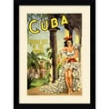 'Cuba, Holiday Isle of the Tropics' Framed Art Print