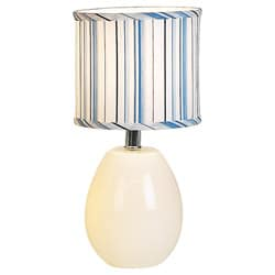 White Glow Melon Table Lamp