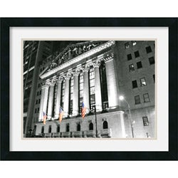 Phil Maier 'New York Stock Exchange at Night' 23 x 19-inch Framed Art Print