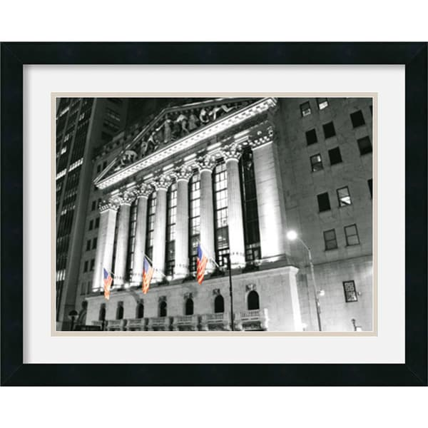 Phil Maier 'New York Stock Exchange at Night' Framed Art Print