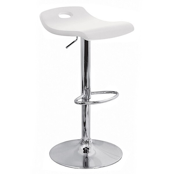White Surf Curved Wood Barstool