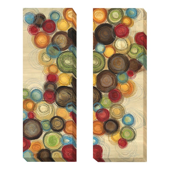 Jeni Lee 'Wednesday Whimsy I and II' 2-piece Canvas Art Set