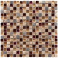 SomerTile 11.75x11.75-in Reflections Mini 0.625-inch Aurora Glass and Stone Mosaic Tiles (Pack of 10)