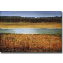 Caroline Gold 'Riverside' Canvas Art