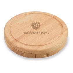 Picnic Time Baltimore Ravens Brie Cheese Board Set