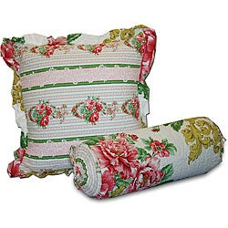 Greenland Home Fashions Versailles Decorative Pillows (Set of 2)