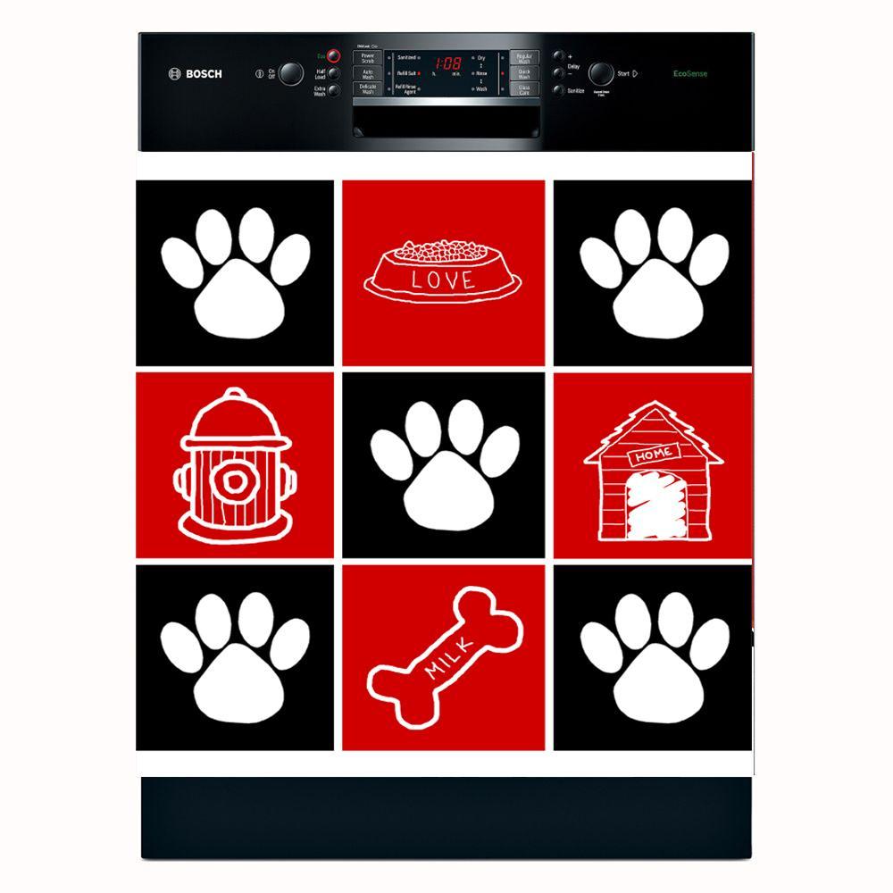 Appliance Art 'Dog Squares' Dishwasher Cover