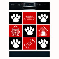 Appliance Art 'Dog Squares' Dishwasher Cover