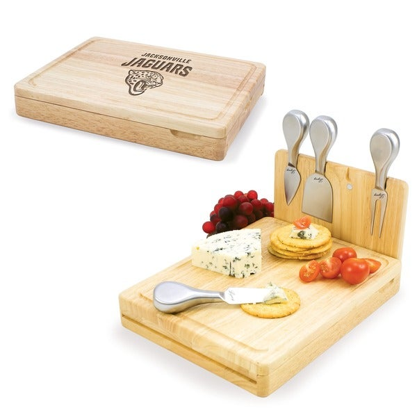 Picnic Time Jacksonville Jaguars Asiago Folding Cheese Knife Set