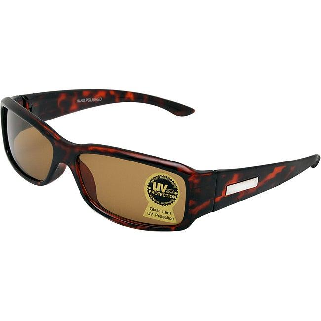 Unisex Noir Brown Fashion Sunglasses with Glass Lenses