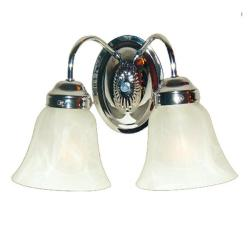 Woodbridge Lighting Ridgemont 2-light Chrome Bath Sconce