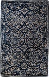 Smithsonian Hand Tufted Palma Ivory Navy Oriental Pattern