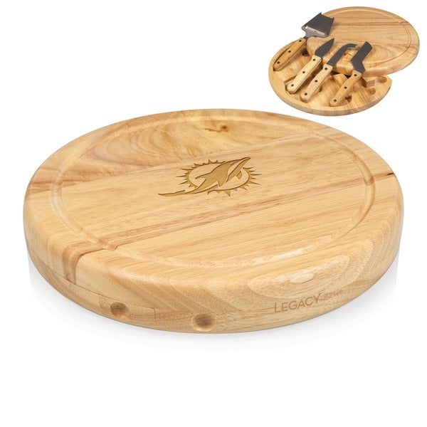 Picnic Time Miami Dolphins Circo Cheese Board Set