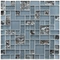 SomerTile 11.75x11.75-inch Reflections Versailles Vesuvius Glass Mosaic Tiles (Pack of 10)