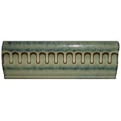 SomerTile 2x6-inch Tuscan Azure Ceramic Chair Rail Trim Tile (Pack of 8)