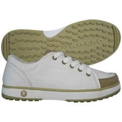 Dawgs Golf Women's Crossover White/ Tan Golf Shoes