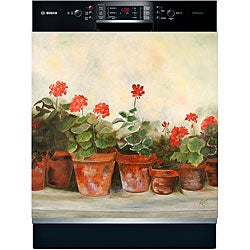 Appliance Art 'Geraniums' Dishwasher Cover