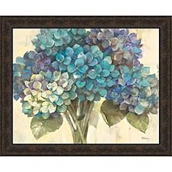 Albena Hristova 'Turquoise Hydrangea' Framed Print Art