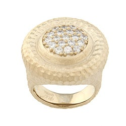 Rivka Friedman Cubic Zirconia Center Ring