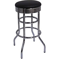 Trinity Chrome Swivel Bar Stools (Set of 2)