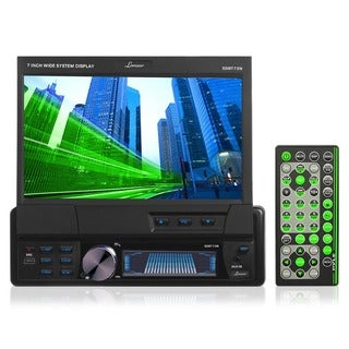 "Lanzar SDBT73N 7"" Single-din Motorized Touchscreen DVD CD/MP3 AM/FM USB/SD Receiver W/ Remote Control"